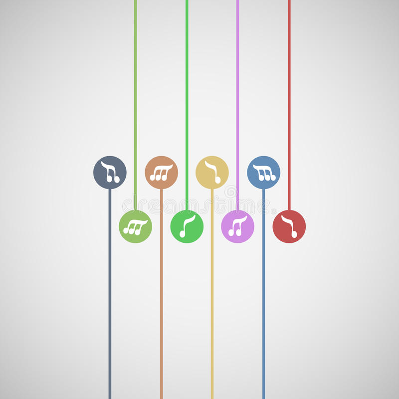 De muziek van de kleur royalty-vrije illustratie