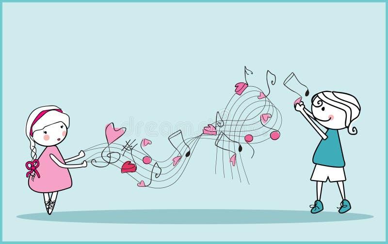 De muziek van de liefde vector illustratie