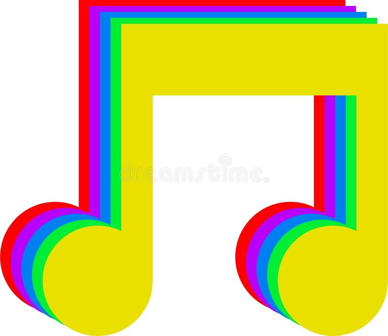 De muziek van de regenboog stock illustratie