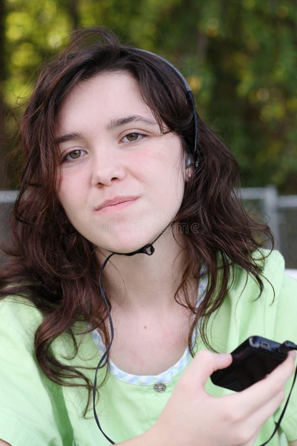De muziek van de tiener mp3 royalty-vrije stock fotografie
