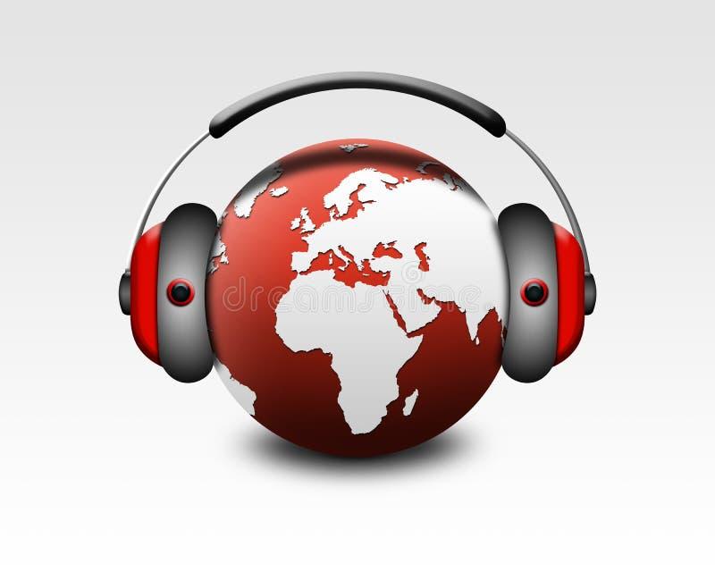 De muziek van de wereld stock illustratie