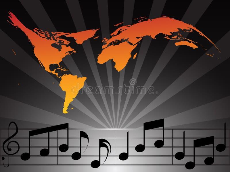 De Muziek van de wereld vector illustratie