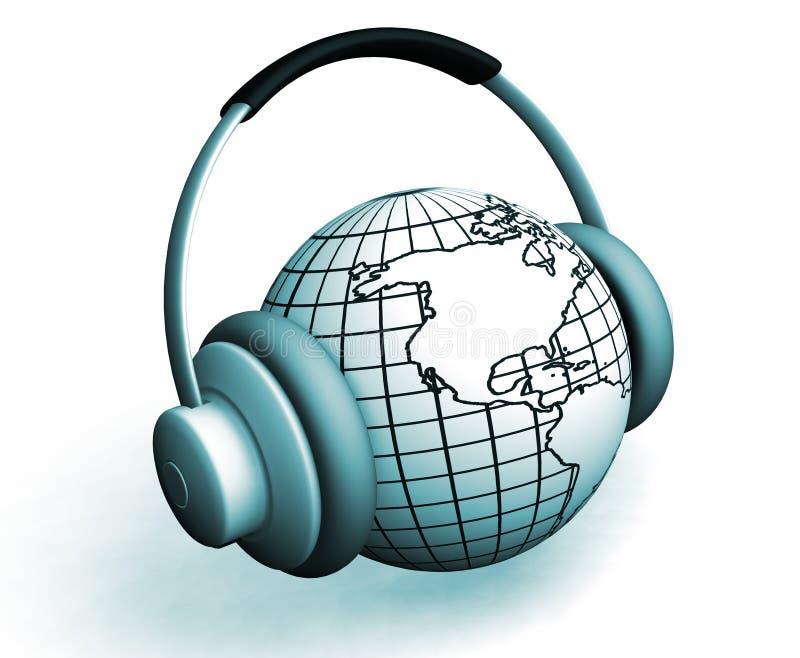 De muziek van de wereld royalty-vrije illustratie