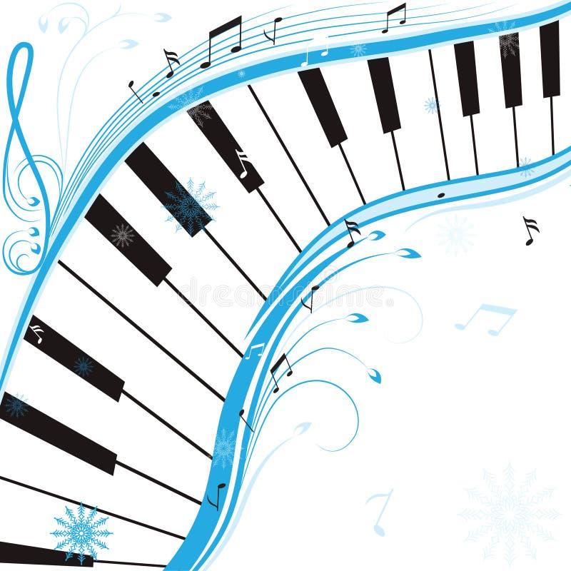 Download De muziek van de winter vector illustratie. Illustratie bestaande uit samenvatting - 29507898