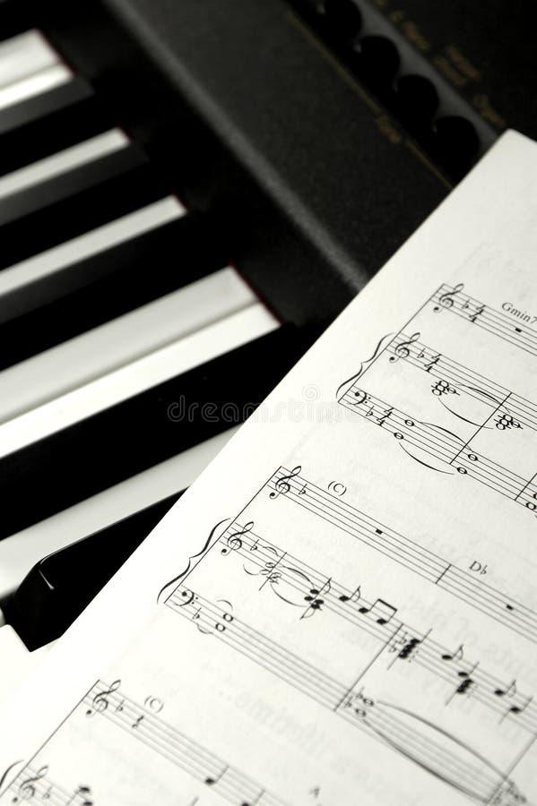 De Muziek van het blad stock foto's