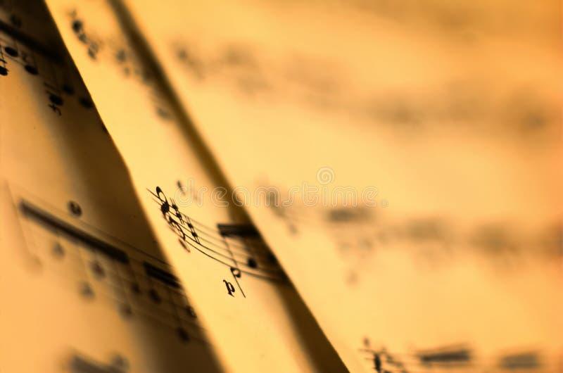 De Muziek van het blad royalty-vrije stock fotografie
