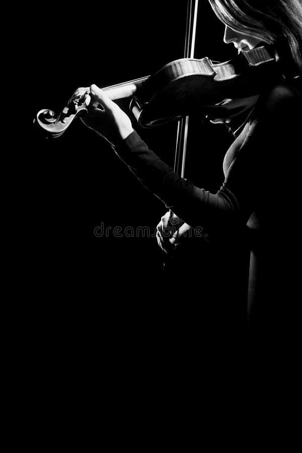 De muziek van het de violistorkest van de vioolspeler royalty-vrije stock foto's