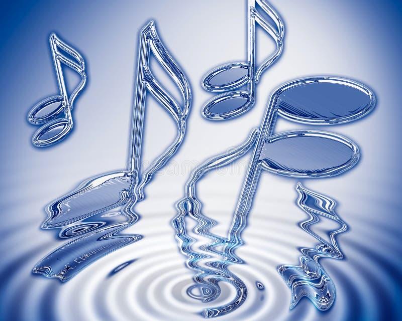 De muziek van het water stock illustratie