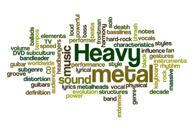 De Muziek van het zware Metaal vector illustratie