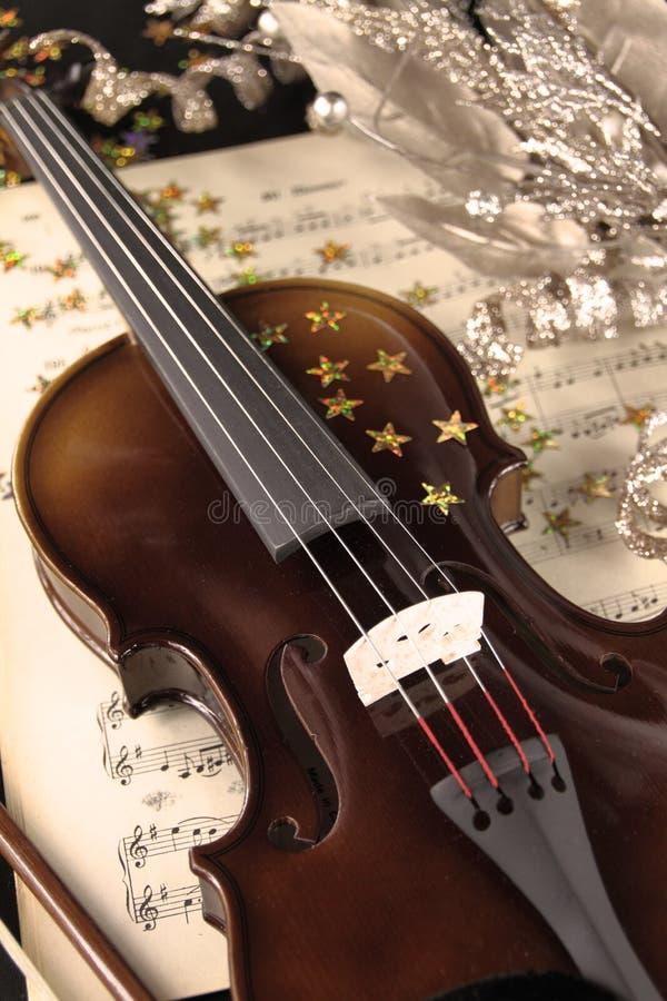 De muziek van Kerstmis stock afbeeldingen