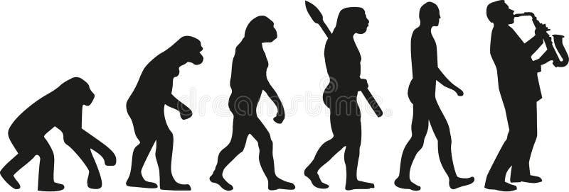 De muziek van de saxofoonevolutie stock illustratie