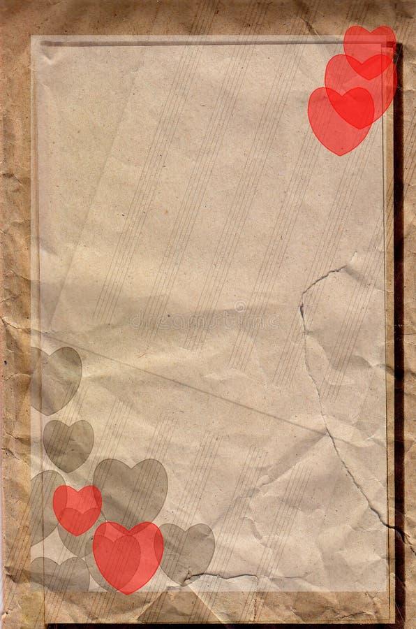De muziekdocument van de liefde stock illustratie