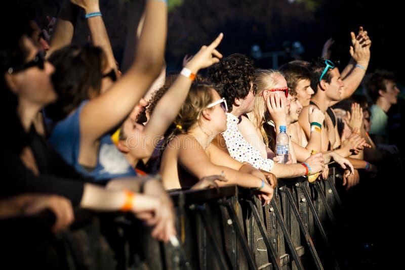 De Muziekfestival Boedapest Hongarije van de Szigetzomer royalty-vrije stock fotografie