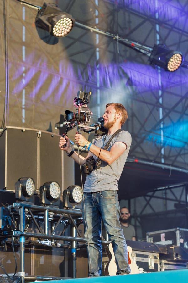 De muziekfestival van het atlasweekend in Kiev, de Oekraïne stock foto's