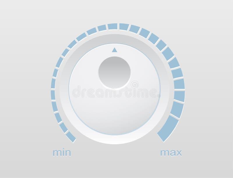 De muziekknop van de volumeknoop vector illustratie