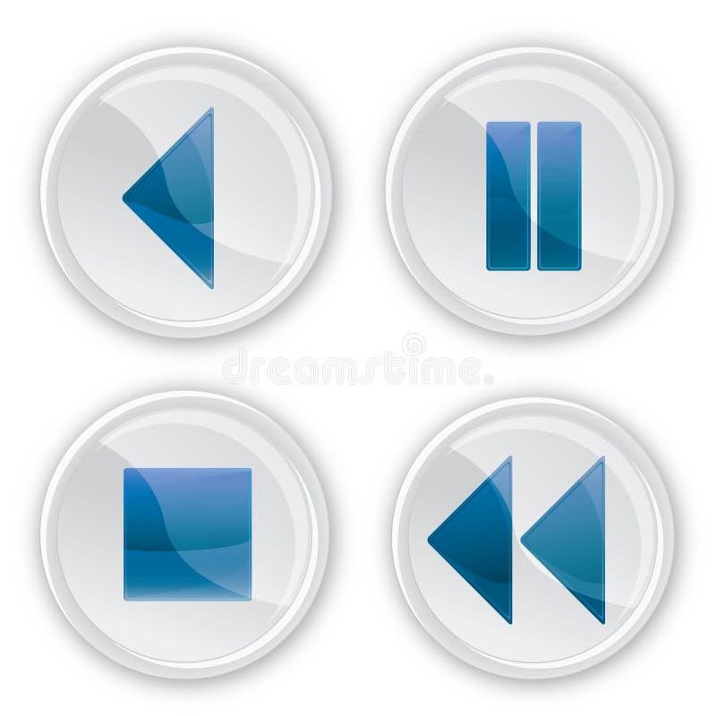 De muziekknopen van het glas stock illustratie