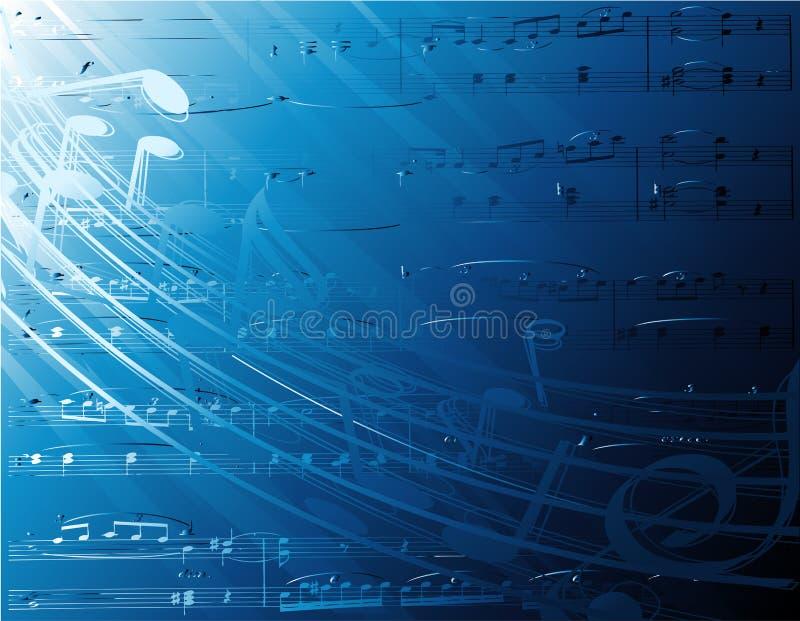 De muzieknota's van Underater stock illustratie