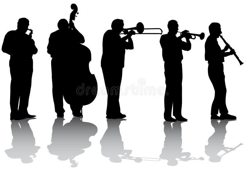 De muziekoverleg van de jazz royalty-vrije illustratie