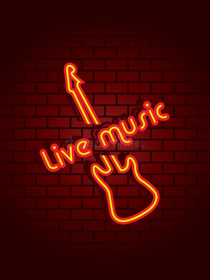 De muziekteken van het neon royalty-vrije illustratie