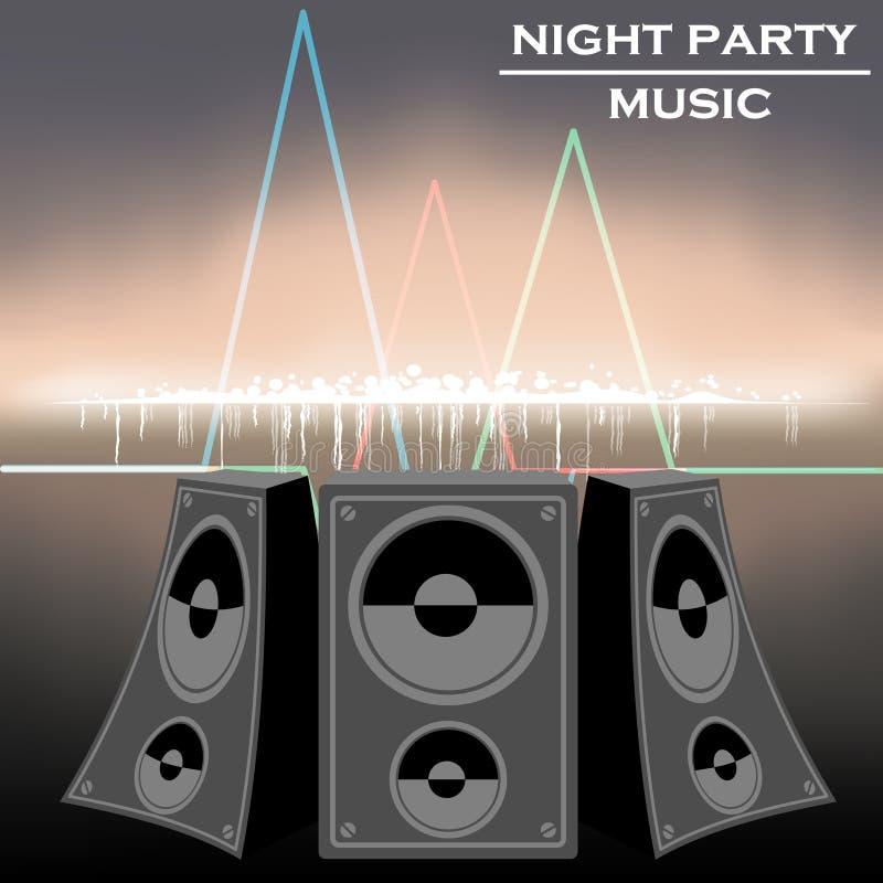 De muziekvector van de nachtpartij royalty-vrije illustratie