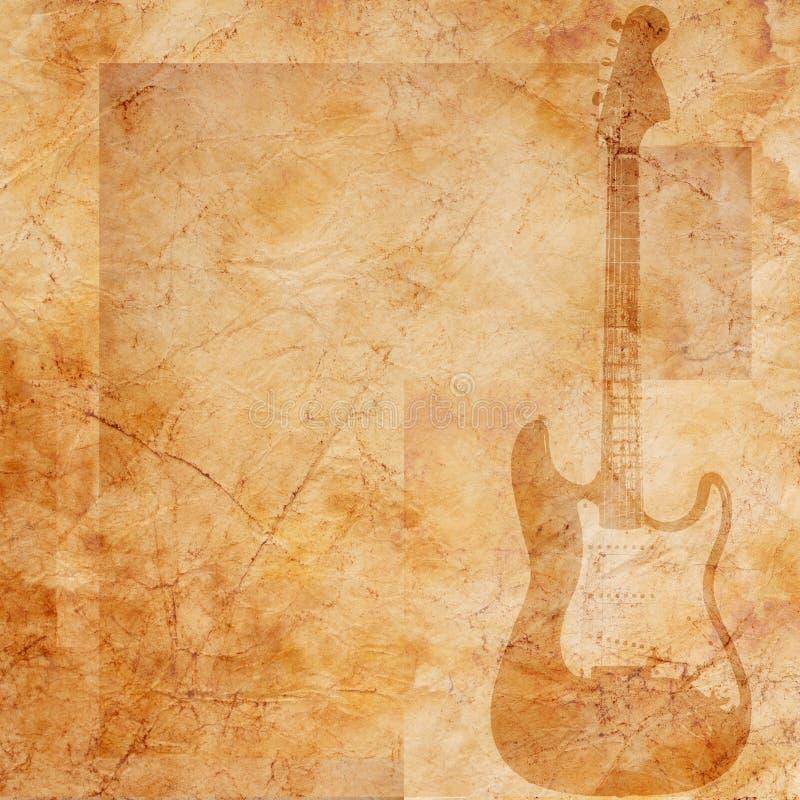 De muzikale achtergrond van Grunge royalty-vrije illustratie