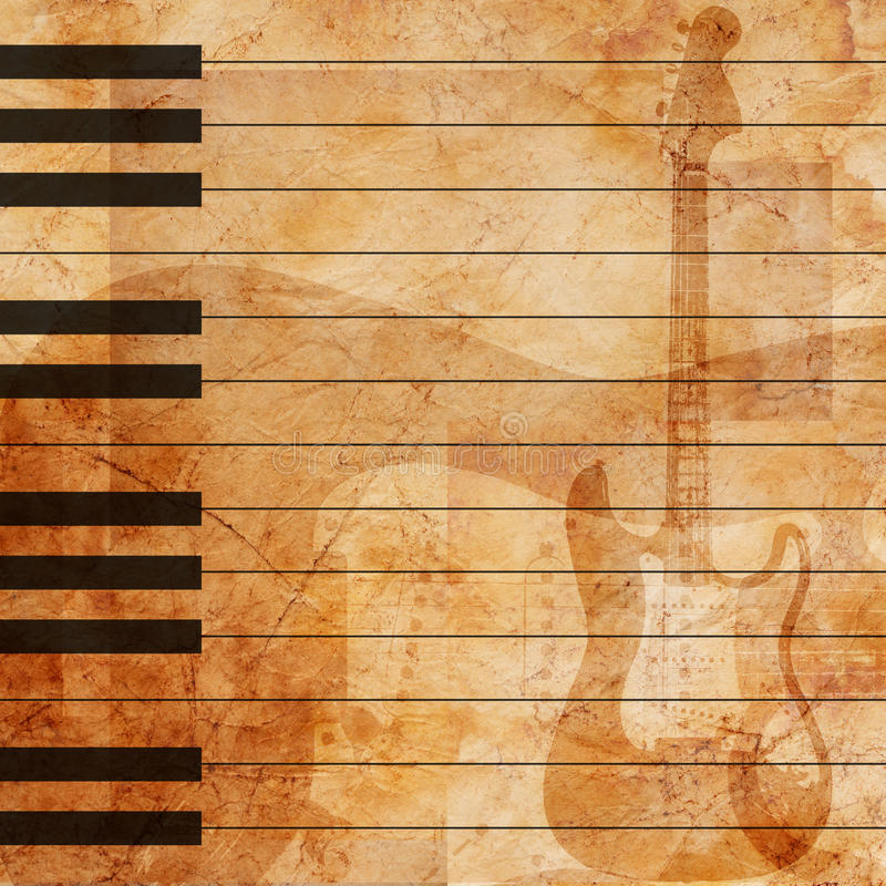 De muzikale achtergrond van Grunge vector illustratie