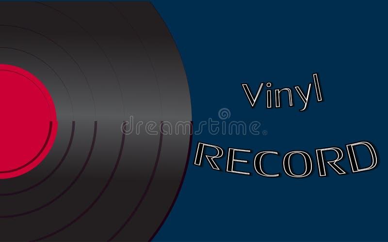 De muzikale audio is een oud uitstekend retro hipster antiek vinylverslag en een inschrijvings vinylverslag op de achtergrond van stock illustratie