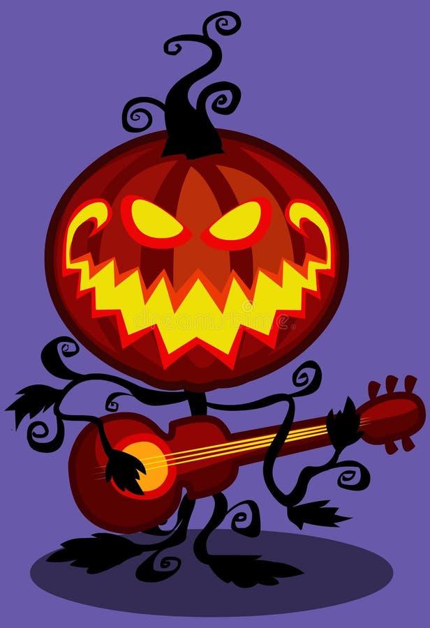 De muzikale pompoen van Halloween royalty-vrije stock afbeelding