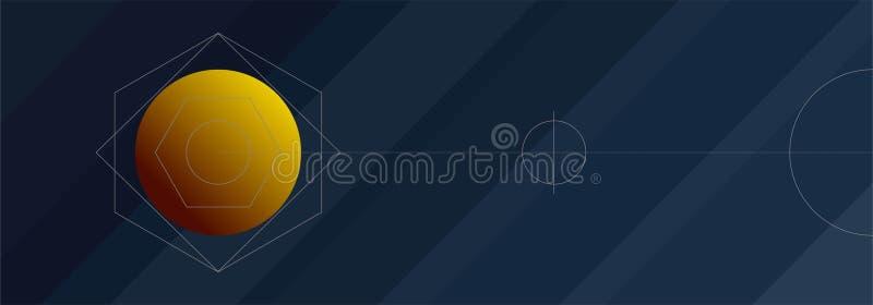 De mystieke achtergrond van de Nachthemel met volle maan, wolken en sterren De nacht van het maanlicht Vector illustratie royalty-vrije illustratie
