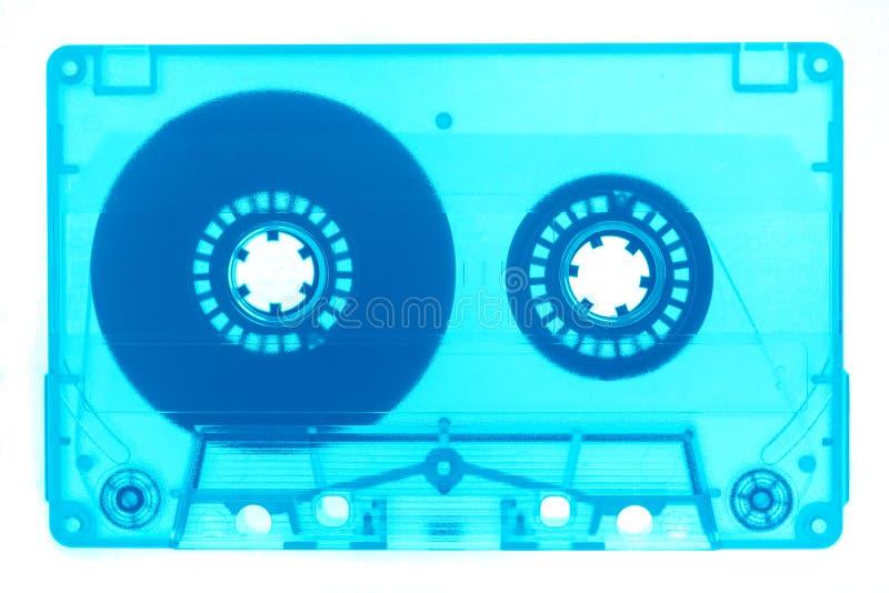 De néon retro na moda da fita da cassete áudio isolado fotos de stock