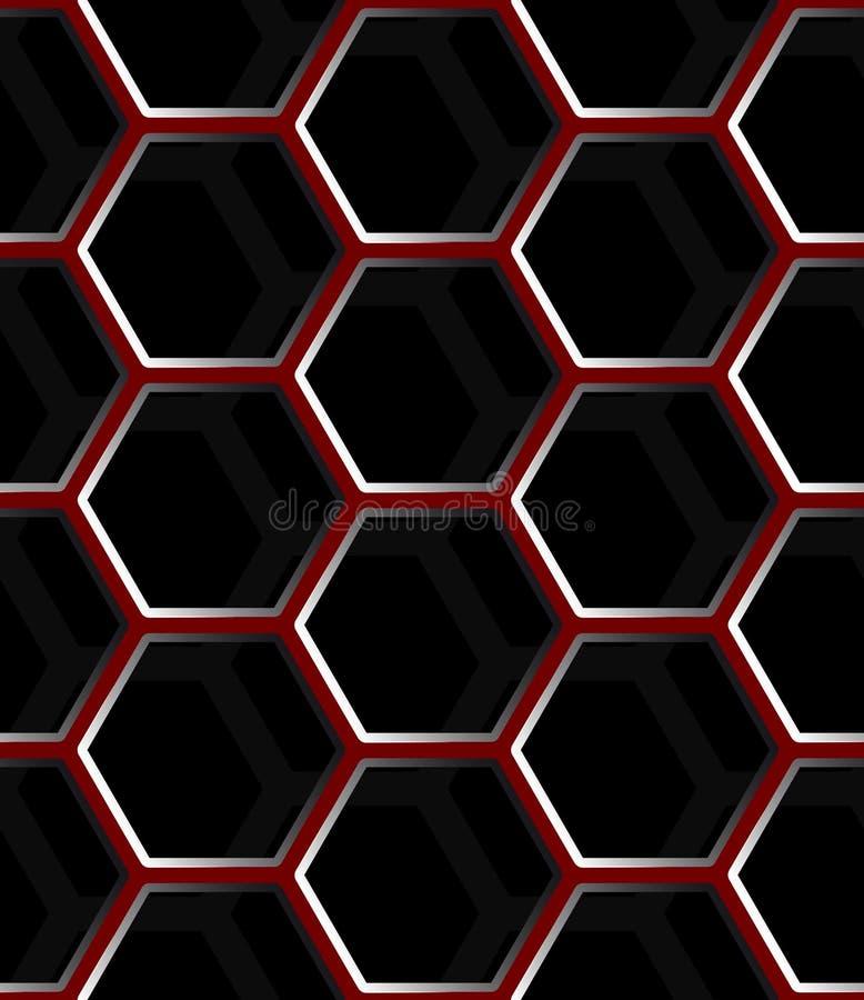 De naadloze abstracte achtergrond van het honingraatnetwerk - zeshoeken vector illustratie