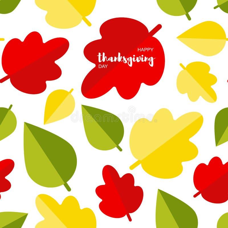De naadloze achtergrond met de herfst doorbladert vector illustratie