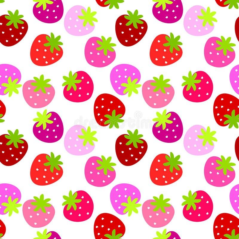De naadloze Achtergrond van Aardbeien stock illustratie