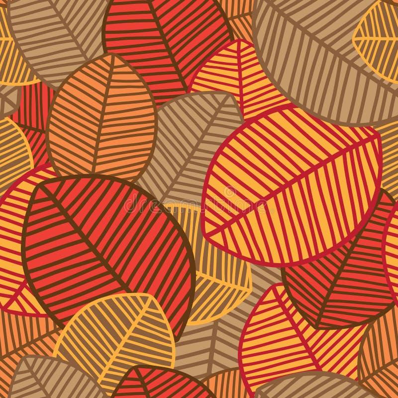 De naadloze Achtergrond van Bladeren royalty-vrije illustratie