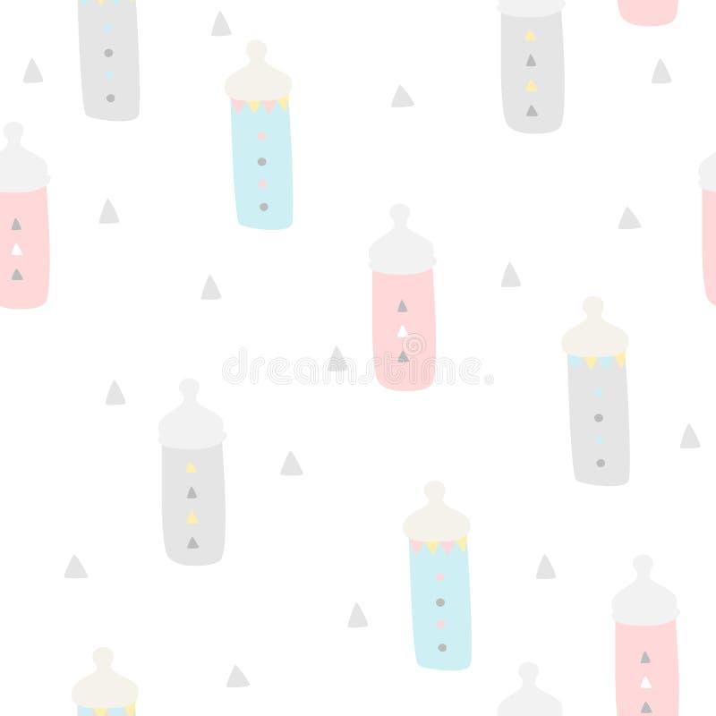 De Naadloze Achtergrond van de babydouche stock illustratie