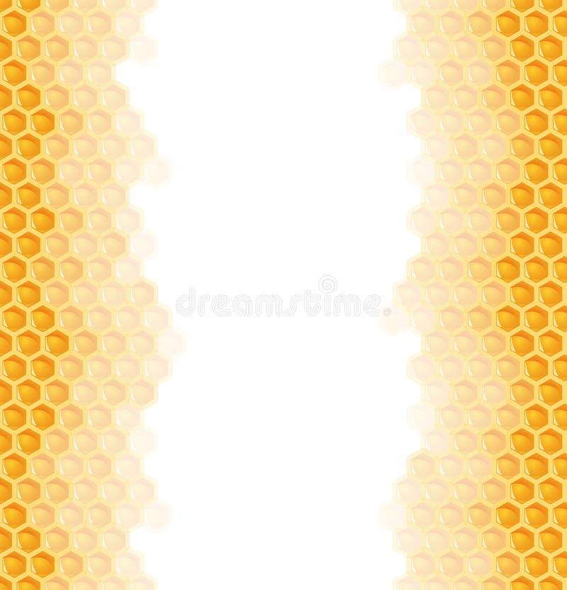 de naadloze achtergrond van de honingskam stock illustratie
