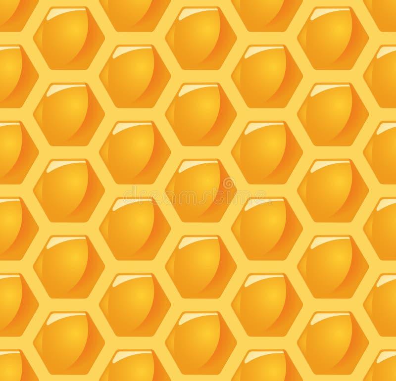 de naadloze achtergrond van de honingskam vector illustratie
