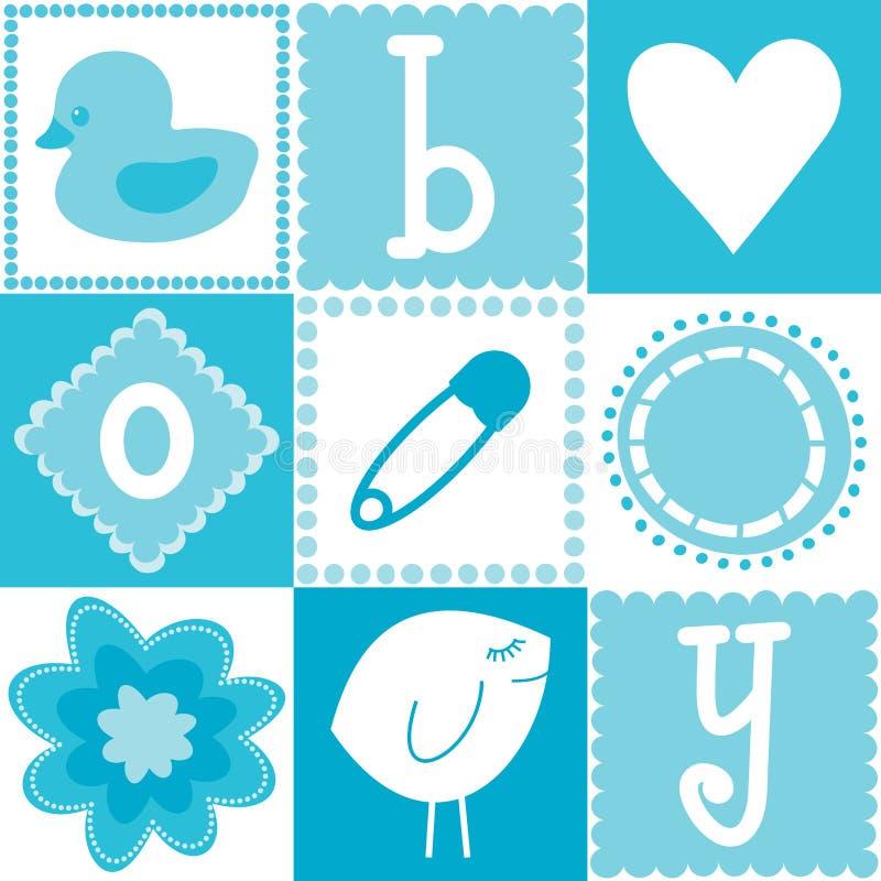 De naadloze achtergrond van de jongen van de baby vector illustratie afbeelding 22918362 - Baby boy versiering van de zaal ...