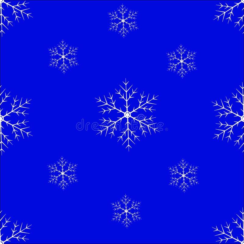 De naadloze achtergrond van de sneeuwvlok royalty-vrije stock foto's