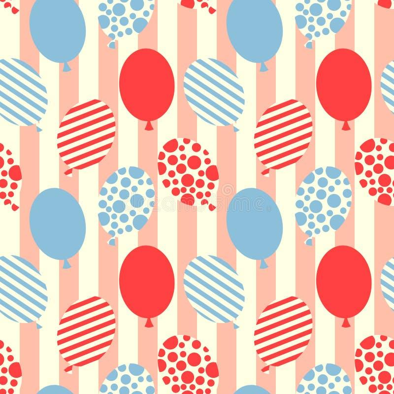 De naadloze achtergrond van het ballonspatroon stock illustratie
