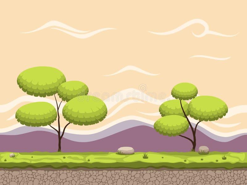 De naadloze achtergrond van het beeldverhaalspel vector illustratie