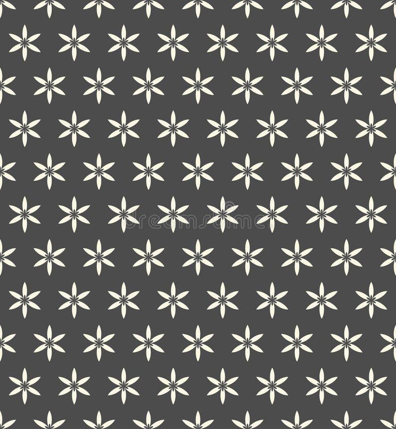 De naadloze achtergrond van het bloemdamast Luxe bloemenpatroon vector illustratie