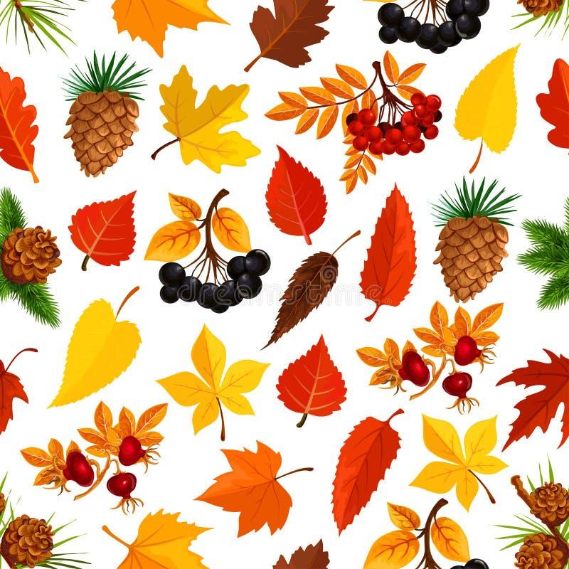 De naadloze achtergrond van het de herfstpatroon van dalingsaard royalty-vrije illustratie