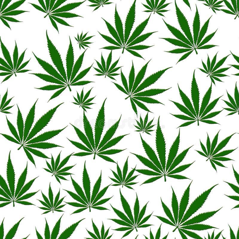 De Naadloze Achtergrond van het marihuanablad royalty-vrije illustratie