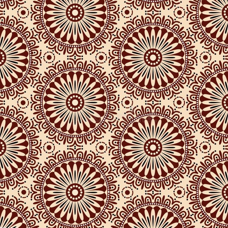 De naadloze Achtergrond van het Patroon van de Bloem De moderne modieuze Vector van het textuurontwerp vector illustratie