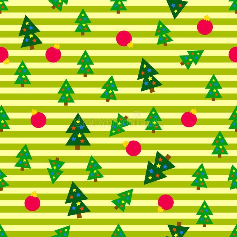De Naadloze Achtergrond van kerstbomen vector illustratie