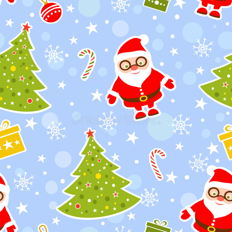 De naadloze Achtergrond van Kerstmis royalty-vrije illustratie