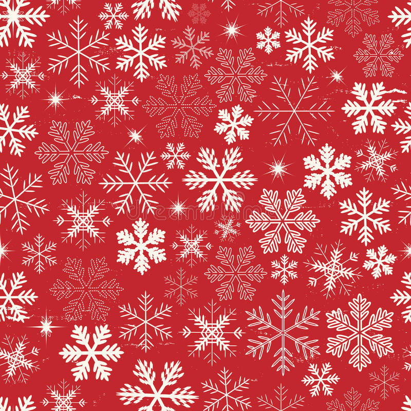 De naadloze Achtergrond van Kerstmissneeuwvlokken royalty-vrije illustratie