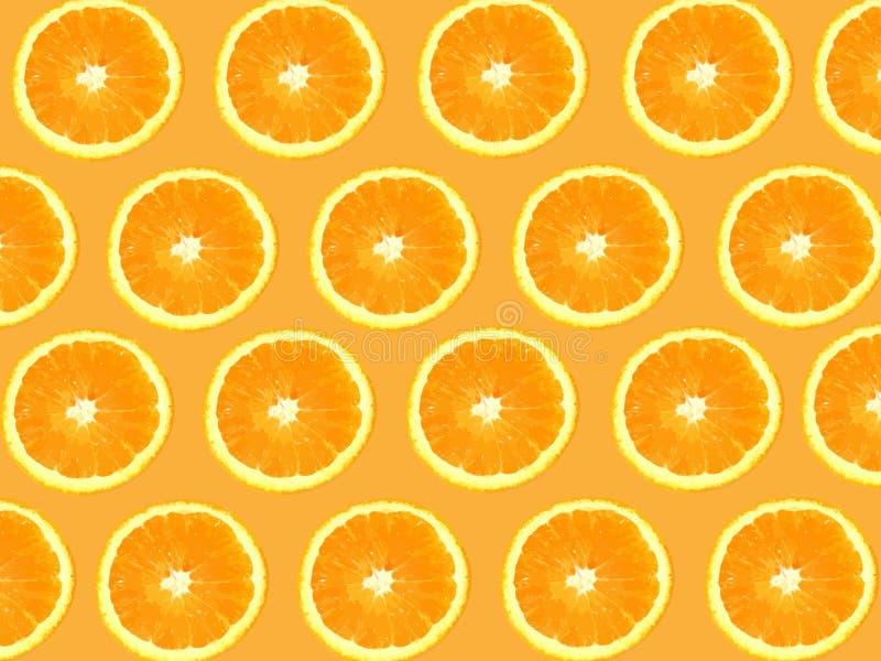 De naadloze Achtergrond van Sinaasappelen stock illustratie