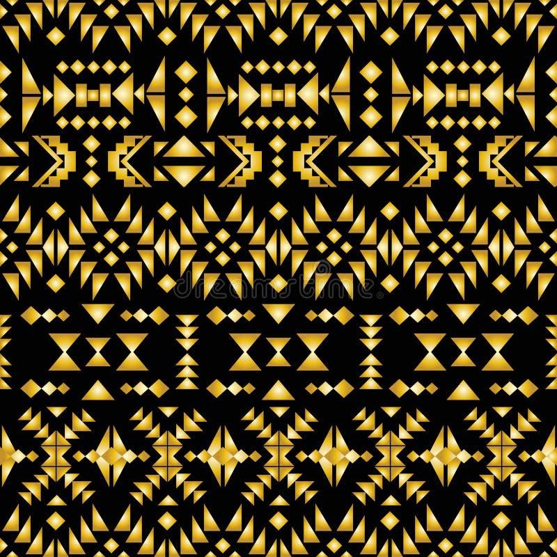 De naadloze Azteekse stijl van het patroonart deco, vectorillustratie stock illustratie